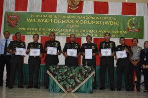 Danrem 042/Gapu Canangkan Pembangunan Zona Integritas Menuju Wilayah Bebas Korupsi