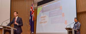 Wali Kota Jambi Paparkan Konsep Smart City Kota Jambi di Hadapan Delegasi Australia