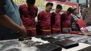 Lima Spesialis Pembobol Rumah Kosong Ditangkap