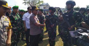 Antisipasi Situasi Kontijensi Pemilu 2019, Polda Jambi Gelar Latihan Sispamkota