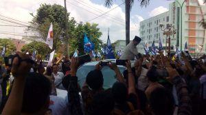 Sapa masyarakat Jambi, ribuan pendukung sambut Prabowo