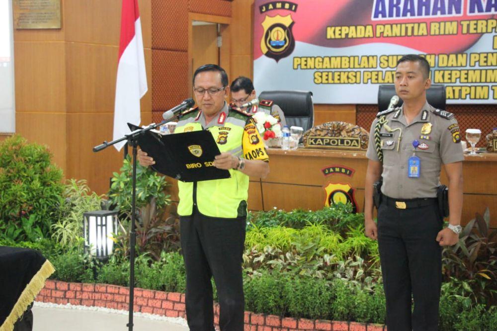 Kapolda Pimpin Pembacaan Sumpah dan Pakta Integritas Panitia Seleksi Diklatpim Tk. III Polda Jambi