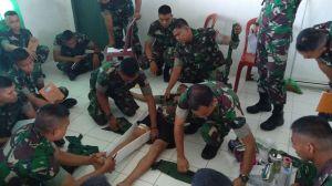 Yonif Raider 142/KJ Bekali 25 Prajurit Tenaga Kesehatan