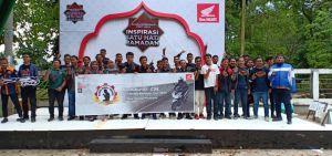 Honda Bikers Soleh, Sinsen Bersama Komunitas Motor Honda Jambi Bersih-bersih Masjid dan Berikan Dona