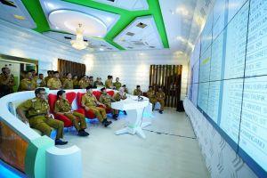 Canggih, Wali Kota Jambi Sidak Kehadiran ASN dari Ruang City Operation Center