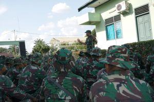 Beri Semangat Personel Satgas TMMD Ladang Peris, Ini Pesan Pangdam  II/Sriwijaya