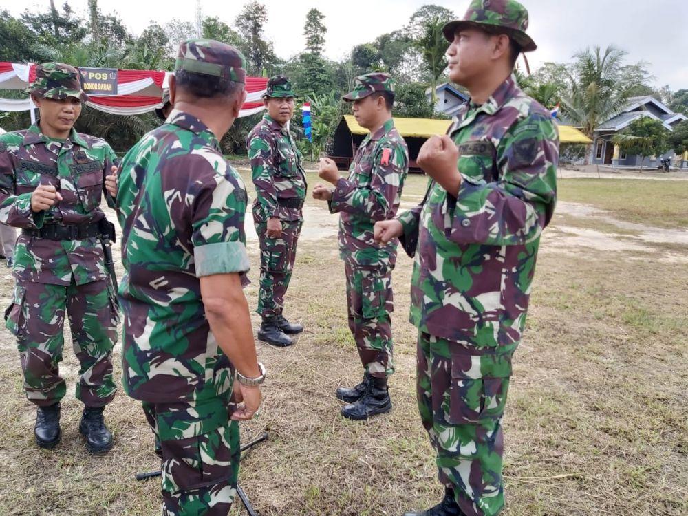 Tim Satgas TMMD Kodim 0415/Batanghari melakukan gladi pasukan di Lapangam Desa Ladang Peris, Rabu (10/7/2019)