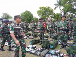Waasops KASAD Cek Kesiapan Satgas Yonif 142/II/Swj  ke Daerah Operasi Pamtas RI-RDTL