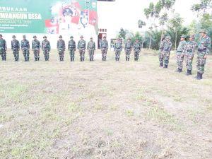 Tim Satgas TMMD Gelar Gladi Pasukan di Lapangan Desa Ladang Peris