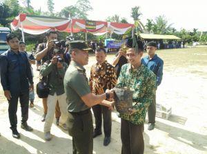 Warga Ladang Peris juga Dapat Bantuan Sosial dari Program TMMD Kodim 0415/Batanghari
