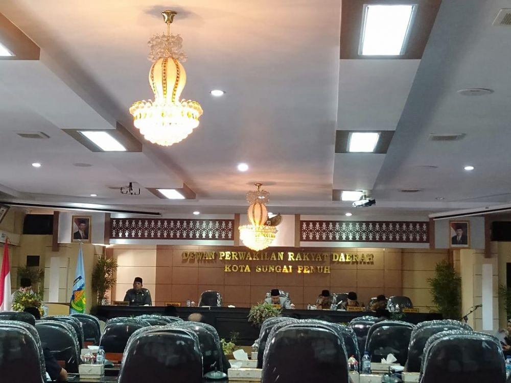Dipimpin Ketua DPRD, Dewan Gelar Paripurna KUA-PPAS Kota Sungai Penuh Tahun 2020