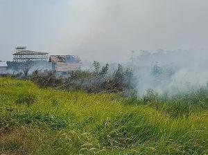 Di Sadu, Api Mulai Mendakati Pemukiman Warga