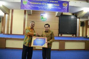 Wako Ajb Terima Penghargaan WTP Dari Menteri Keuangan RI