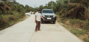 Pengecoran Jalan Tambun Arang- Olak Kemang, Progresnya Sudah 95 Persen
