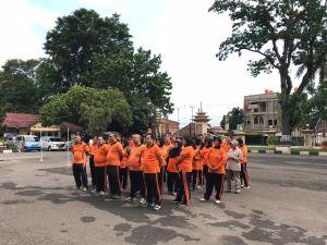 Berpostur Tubuh Gendut, 43 Personil Polda Jambi Program Pengendalian Berat Badan