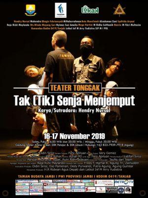 Teater Tonggak Pergelarkan Kegundahan Wartawan, Dalam Tak (Tik) Senja Menjemput