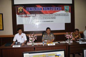 Karo SDM Polda Jambi Buka Asesment Jabatan Pimpinan Tinggi Pratama Pemerintahan Kota