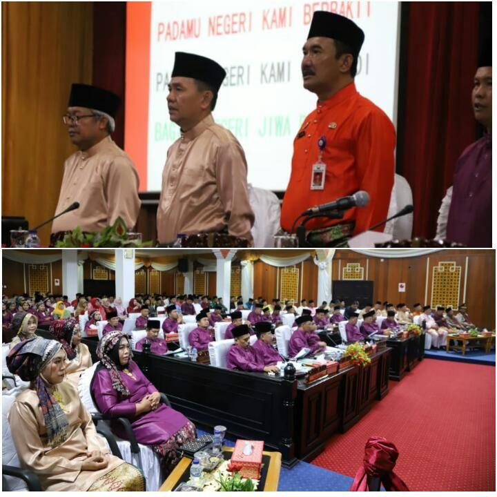 Bupati Kerinci Mengikuti Rapat Paripurna DPRD Dalam Rangka HUT Kerinci Ke-61