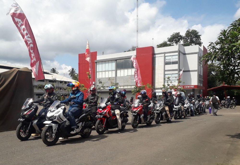 Touring Bareng 80 Bikers Honda Jambi, Sinsen Gelar ADV150 Urban Exploride