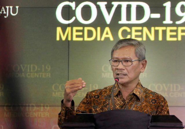 Juru Bicara Pemerintah Untuk COVID-19 Achmad Yurianto. (Muhammad Ali/Jawa Pos)