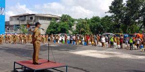 Pemkot Kerahkan 150 Petugas Semprot Desinfektan di Tempat Umum