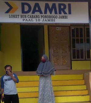 Pengurus PO Damri Ponorogo Cabang Paal 10 Kota Jambi, Imbau Warga Tidak Mudik