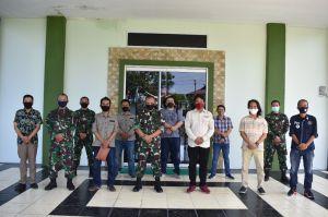 Terima Audensi SMSI Jambi, Kasrem Gapu Ajak Media Edukasi Bahaya Karhutla
