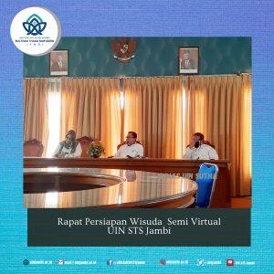 UIN STS Jambi Persiapkan Wisuda Semi Virtual