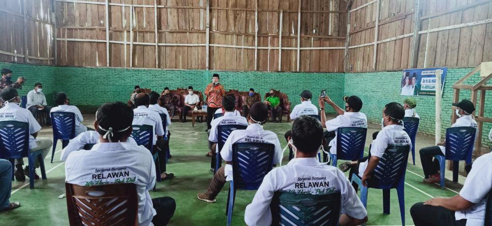 Patuhi Protokol Kesehatan Pelantikan Tim Pemenangan Haris-Sani Dibagi Dua Sesi