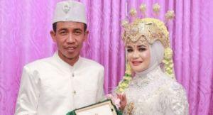 Viral Pengantin Pria Mirip Jokowi, Warganet: Presiden Kita Nikah Lagi