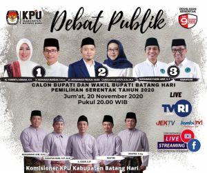 Debat Kandidat Cabup dan Cawabup Batanghari dilaksanakan Malam ini