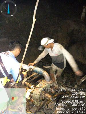 Grebek Areal PETI di Tebo Ilir, Polisi Ringkus Dua Penambang