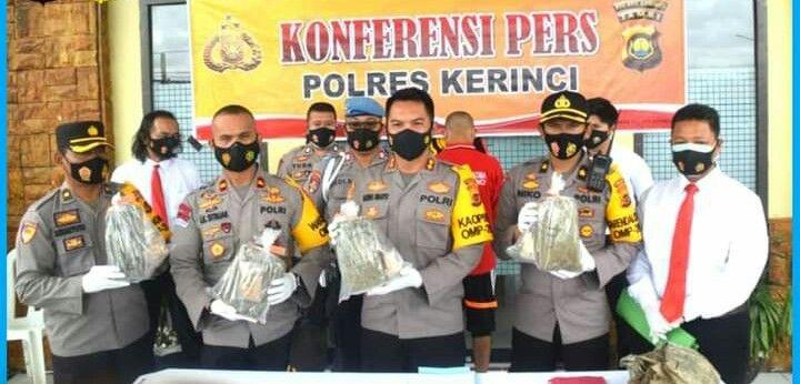 Simpan Ganja Dalam Lubang Warga Sungai Bungkal Diringkus Polisi