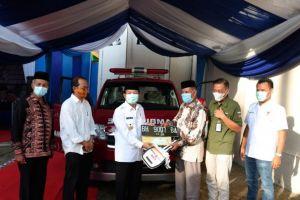Fachrori Serahkan 1 Unit Ambulans Csr Bank Jambi Kepada Masyarakat Mersam