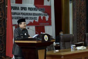 Fachrori Pamit dalam Rapat Paripurna DPRD Provinsi Jambi