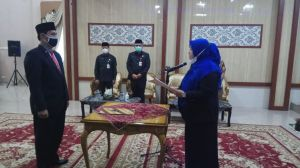 PJ Sekda Asrin Resmi Dilantik Bupati Masnah