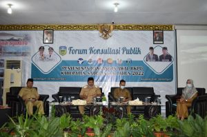 Bappeda Sarolangun Gelar Forum Konsultasi Publik