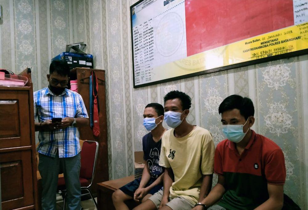 Tim Satres Narkoba Lumpuhkan Tiga Kurir Sabu