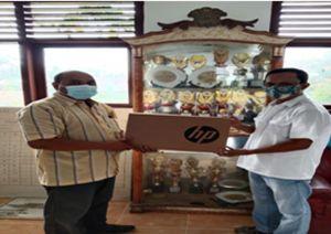PTP Nusantara Vi Memberikan Bantuan 3 Unit Laptop Untuk Smp Negeri 26 Kabupaten Tanjung Jabung Timur