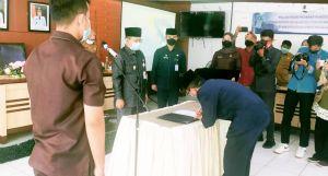 Wawako Maulana Lantik 12 Pejabat di Lingkup Dinkes Kota Jambi