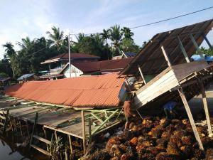 Demaga Ambruk, Fasilitas Umum dan Rumah Rusak Diterjang Angin Kencang