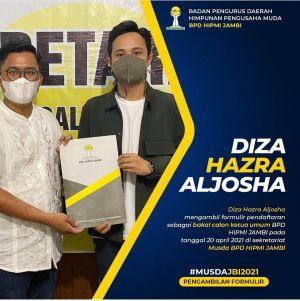 Diza Hazra Aljosha Hazrin Siap Bertarung Rebut Ketua HIPMI Jambi