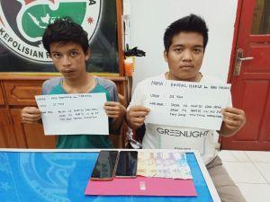 Transaksi Sabu Dua Pemuda Sumay Diciduk Polisi