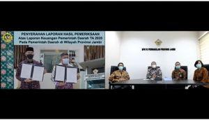 Pemkot Jambi Raih WTP LHP TA 2020