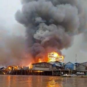 Tanjabtim Kembali Membara, 65 Rumah Ludes Terbakar di Mendahara