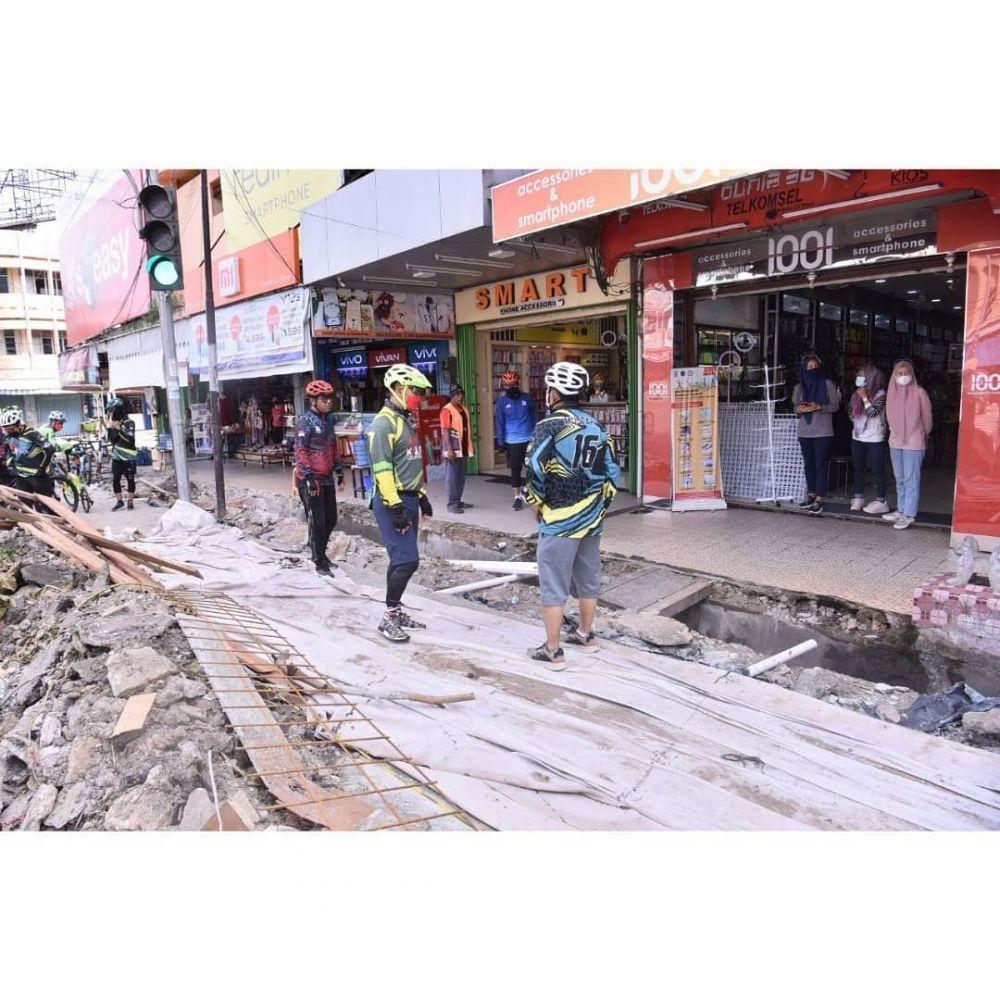 REALISASI FISIK: Proyek fisik di Kota Jambi sudah mulai mendekati 100 persen. Dinas PUPR Kota Jambi menyebutkan secara umum realisasi proyek fisik sudah mencapai 80 persen.