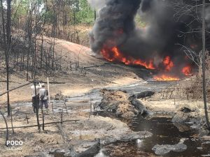 Api di Sumur Minyak Ilegal Mulai Terkontrol, Helipad Siap Digunakan